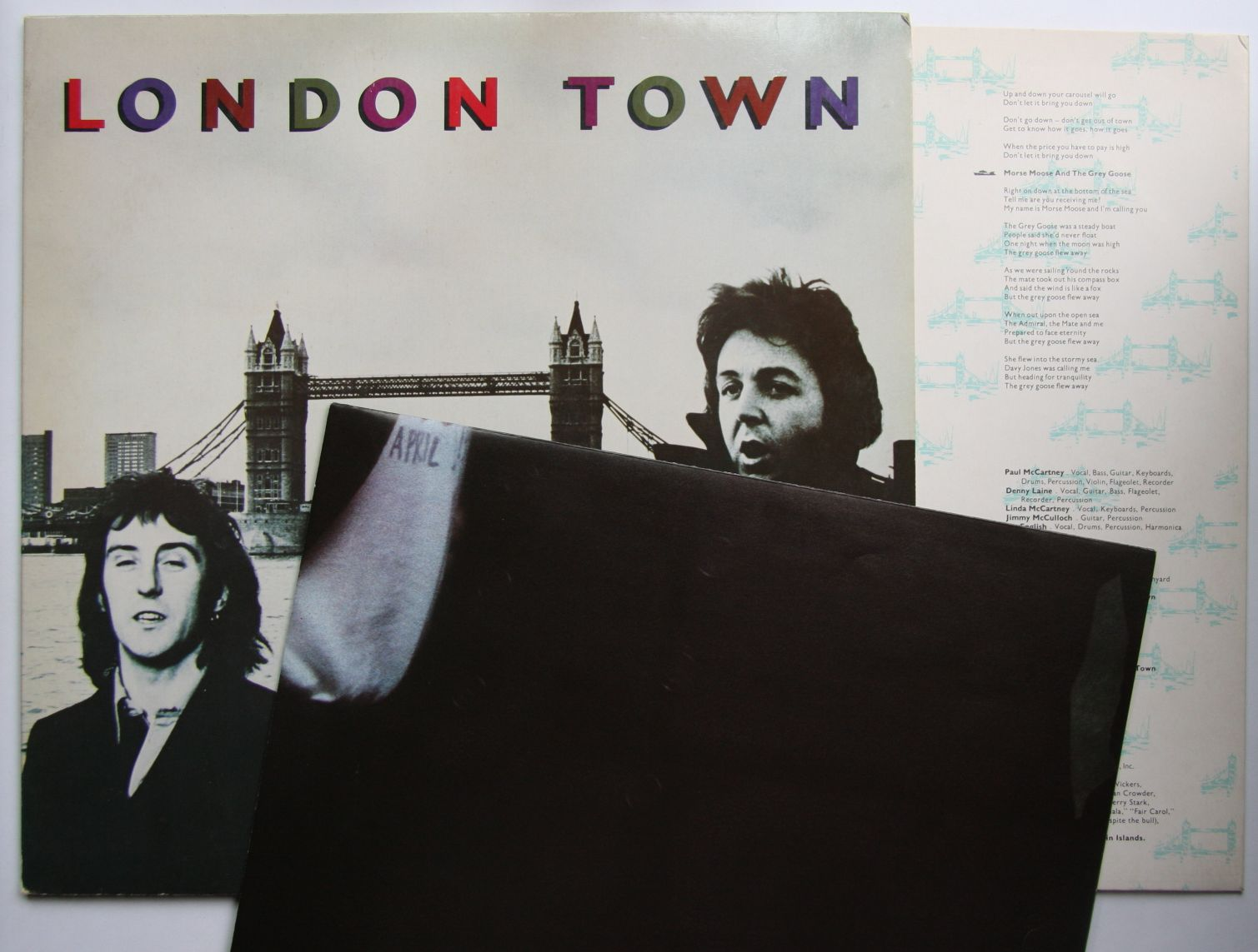 Wings London Town German 1978 Lp Innerbag Poster Paul
