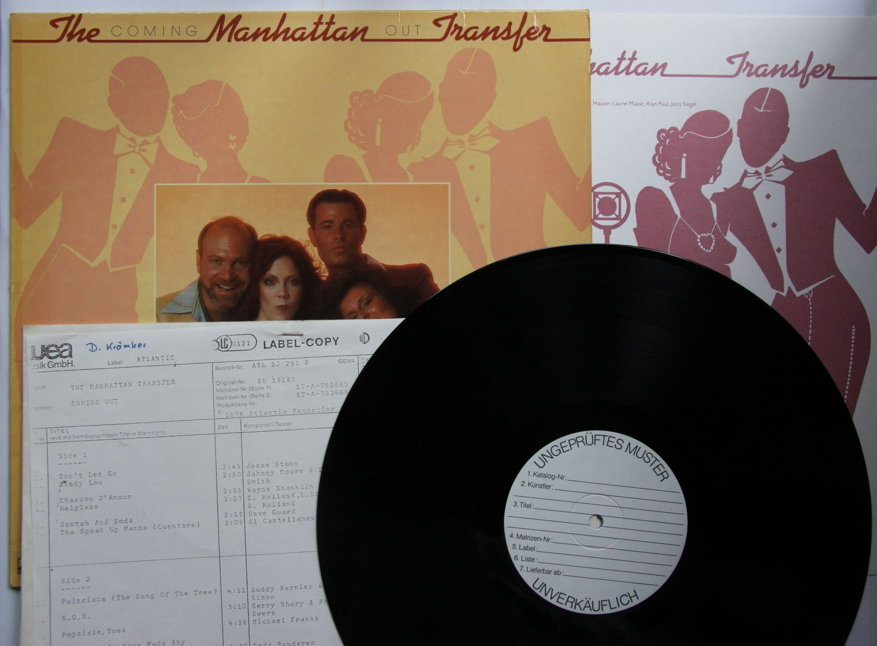 Manhattan Transfer Coming Out Records Lps Vinyl And Cds
