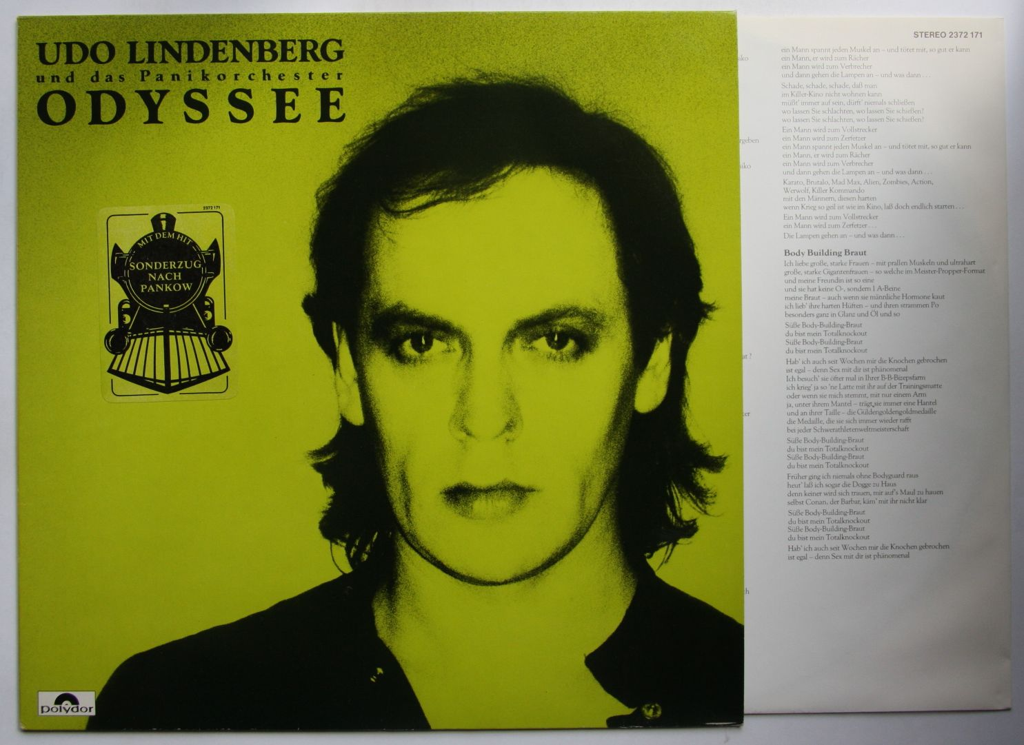 udo lindenberg odyssey 1983 lp innerbag rare sticker on. Black Bedroom Furniture Sets. Home Design Ideas