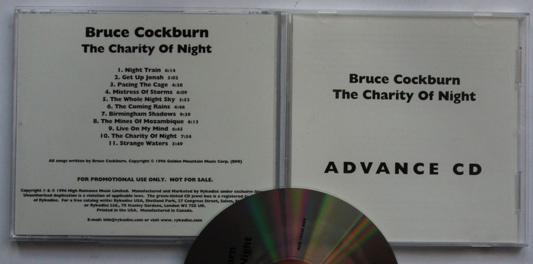 Bruce Cockburn - The Charity Of Night