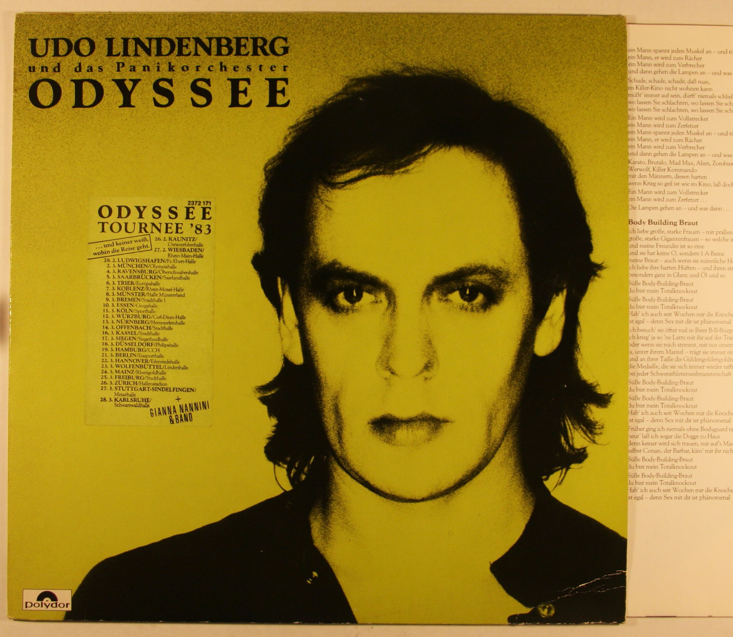 Udo Lindenberg Odyssee Records, LPs, Vinyl and CDs - MusicStack
