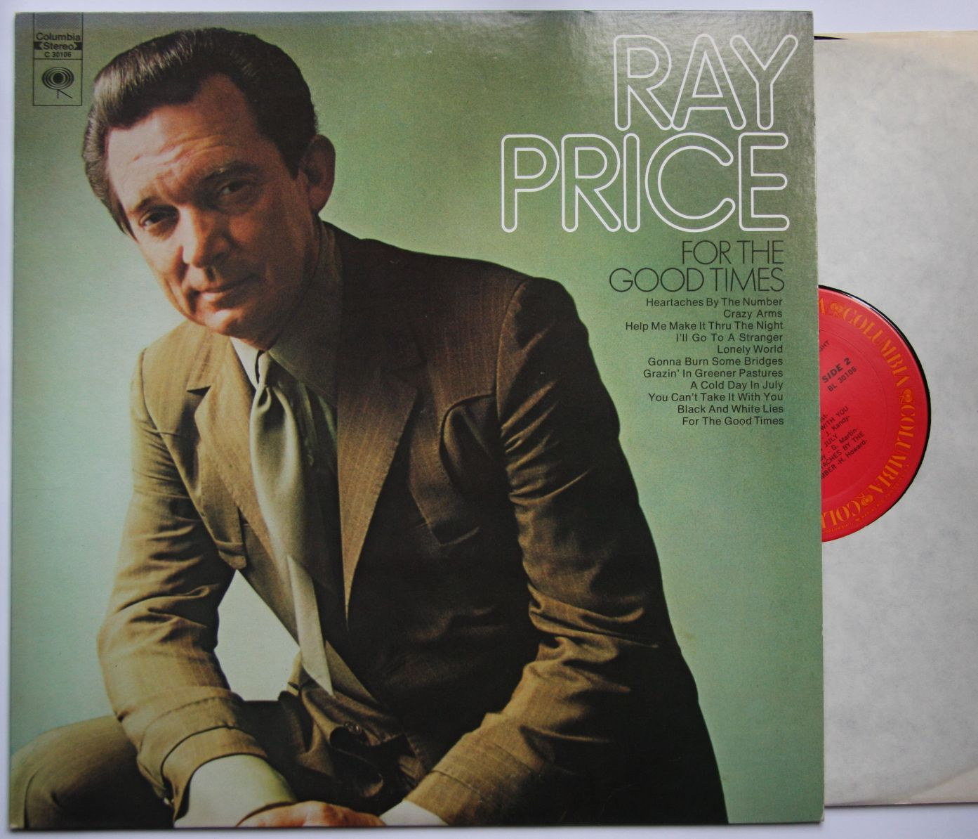 Ray Price - For The Good Times Single