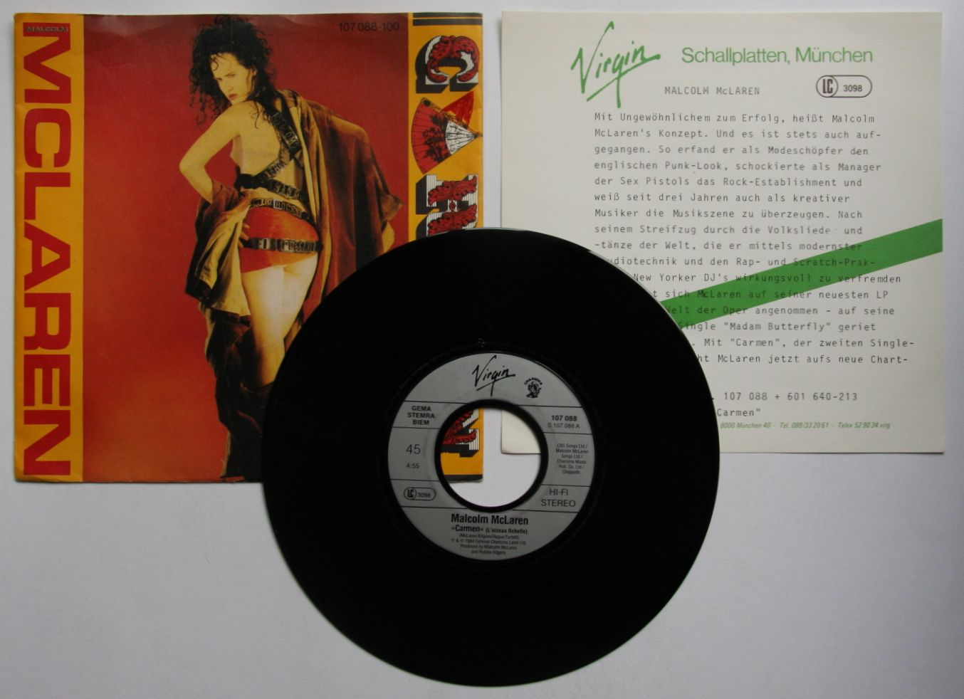 Malcolm Mclaren Carmen Records Lps Vinyl And Cds