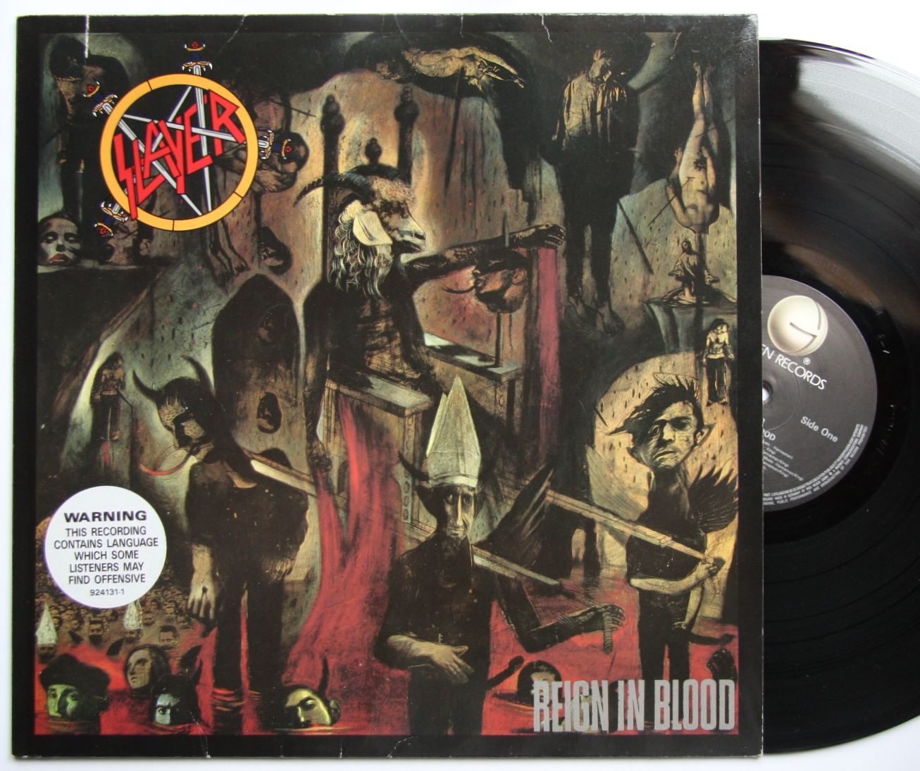 slayer reign in blood records vinyl and cds hard to find and out of print. Black Bedroom Furniture Sets. Home Design Ideas