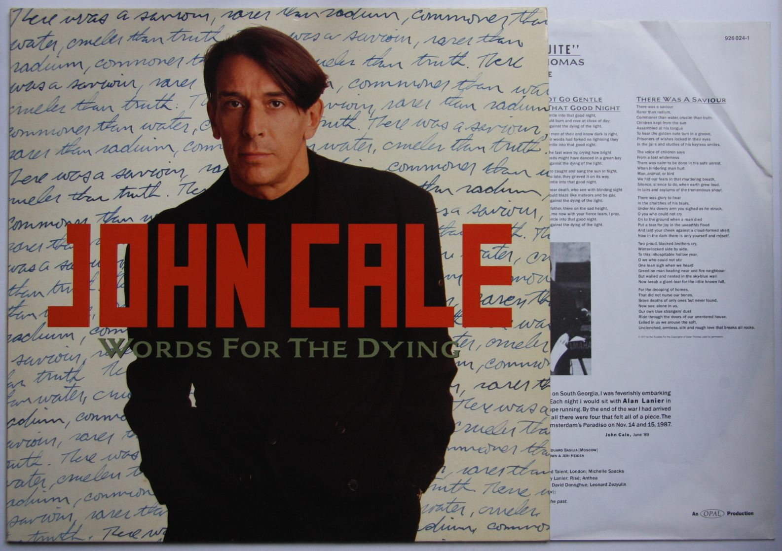 John Cale - Words For The Dying Record