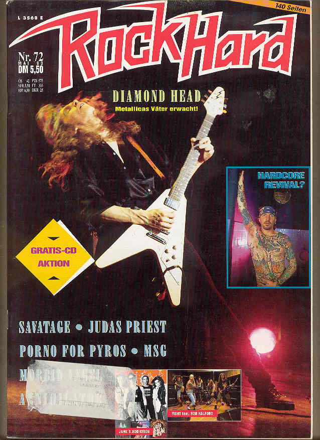 Rock Hard Magazine No.72 1993