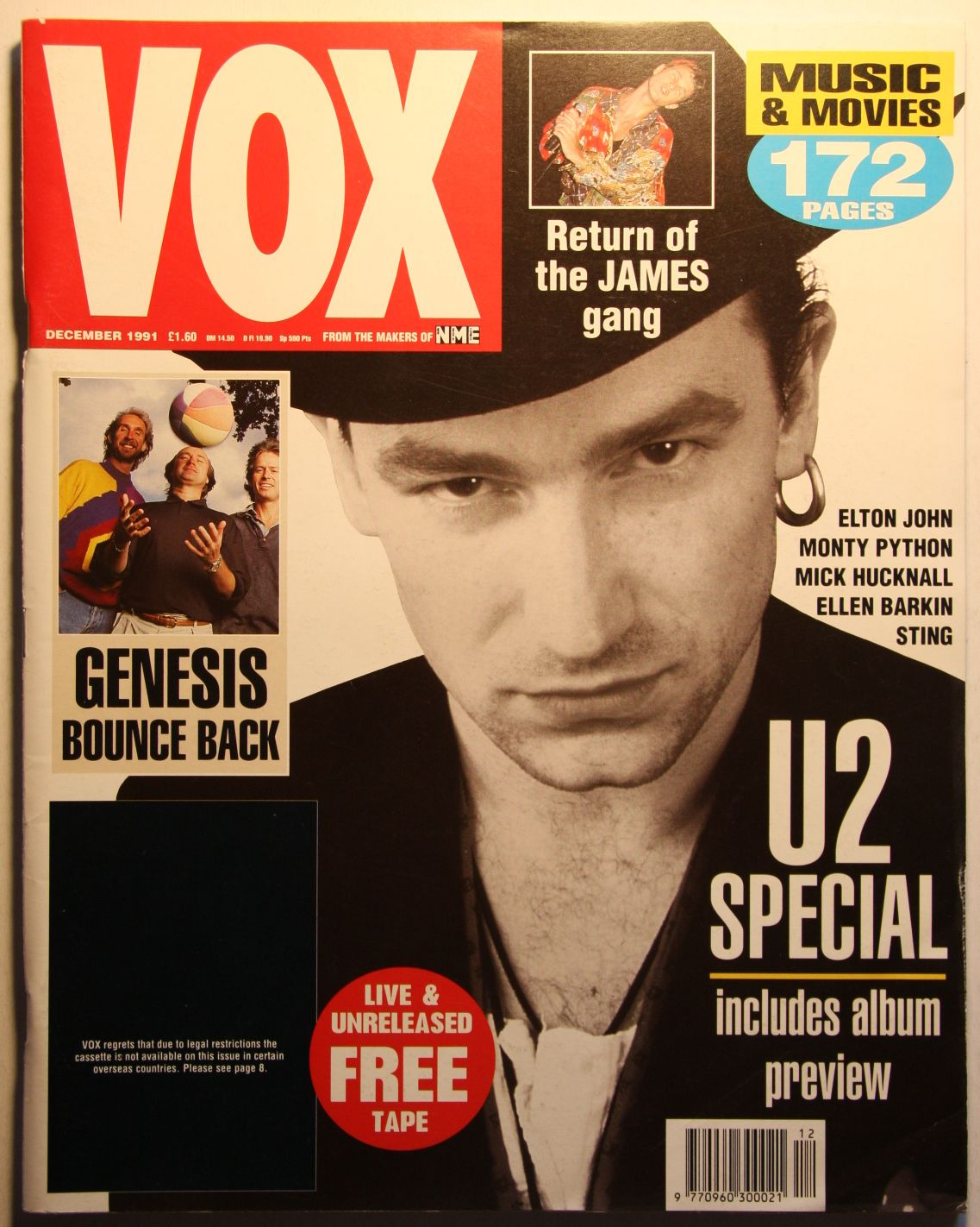 Uk Vox Magazine #15 Dec 91