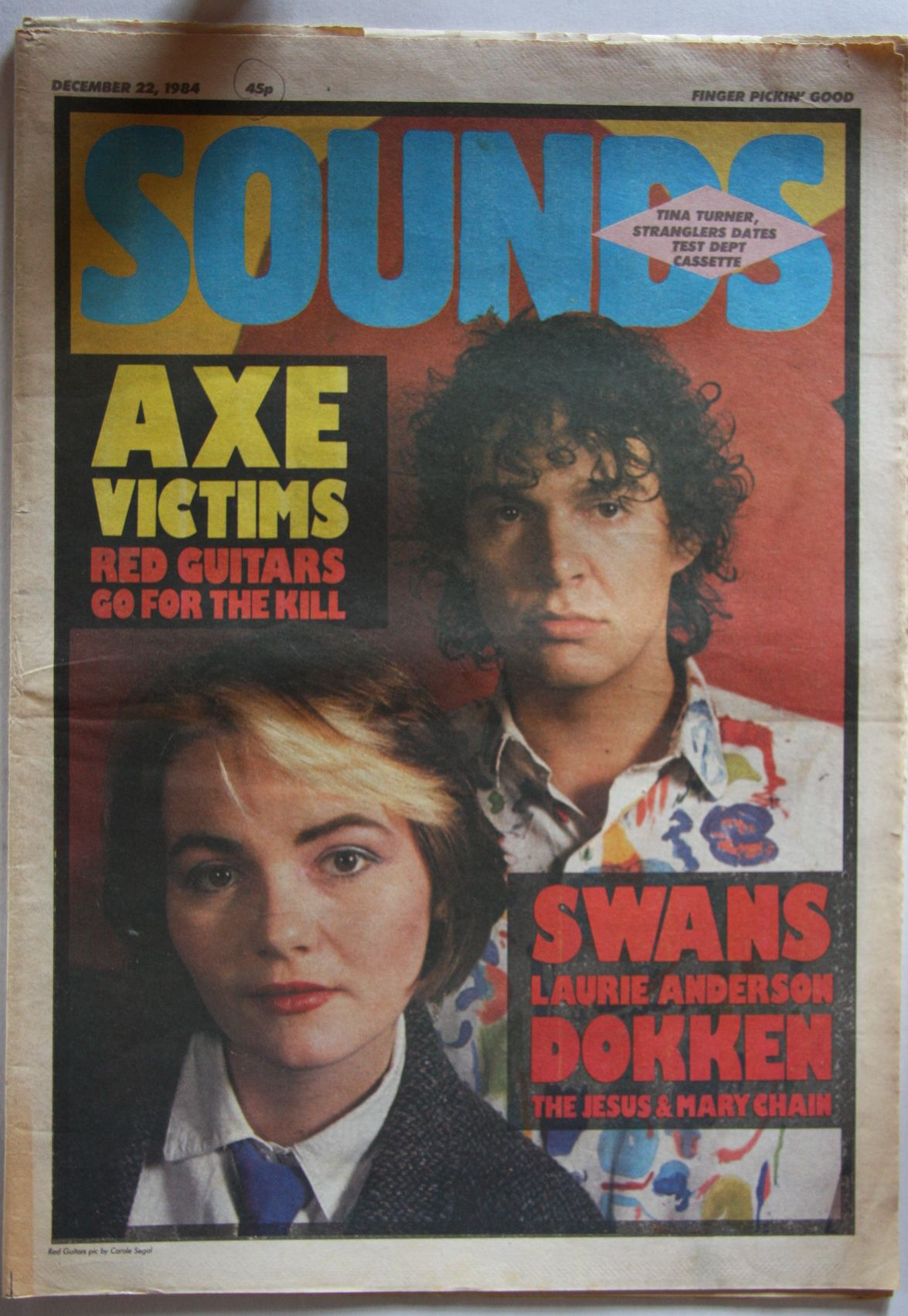 Uk Sounds Magazine 22. Dec 1984