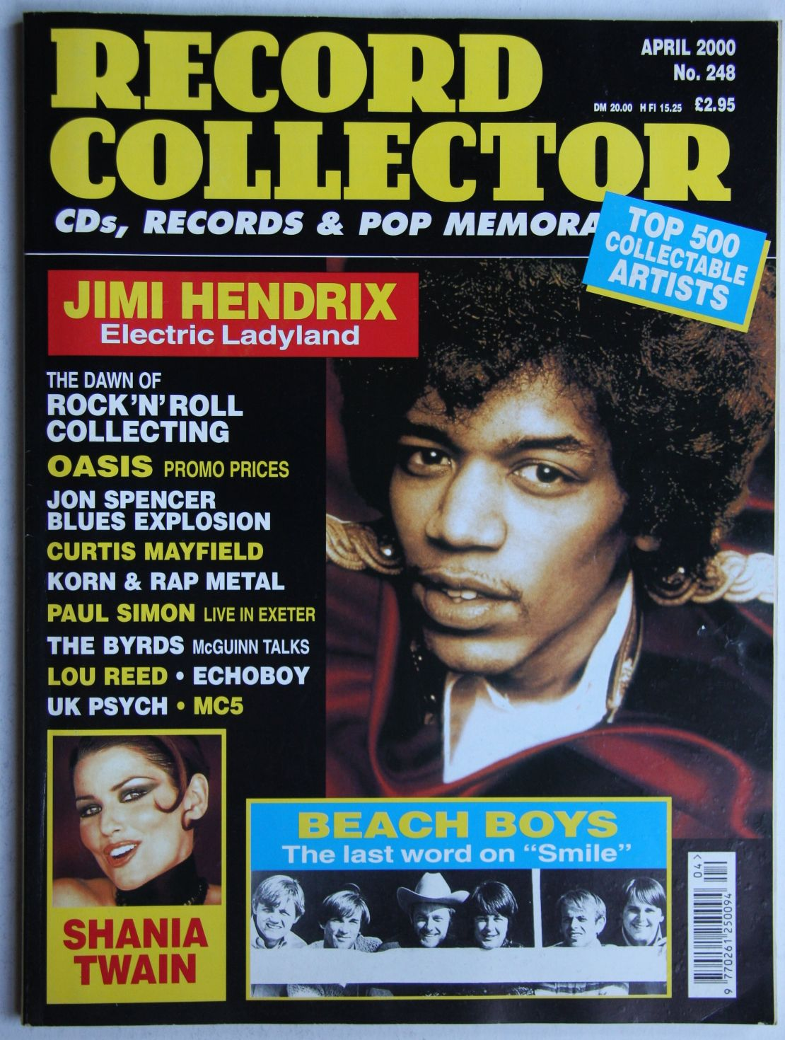 Jimi Hendrix - Uk Record Collector Magazine April 2000