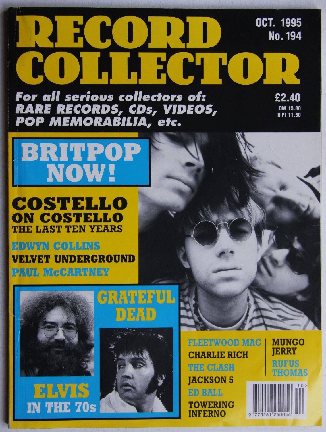 Uk Record Collector Magazine October 1995