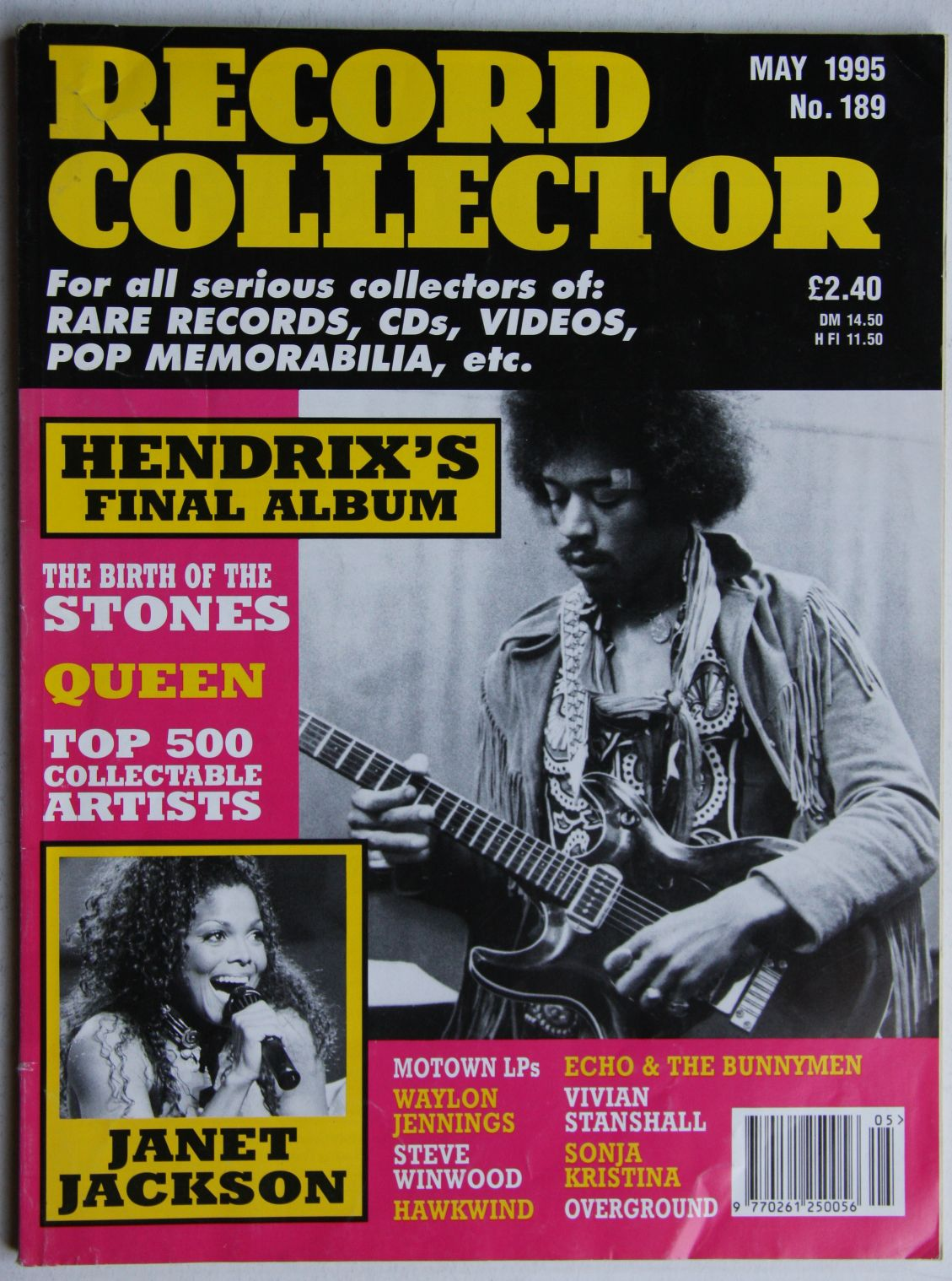 Jimi Hendrix - Uk Record Collector Magazine May 1995