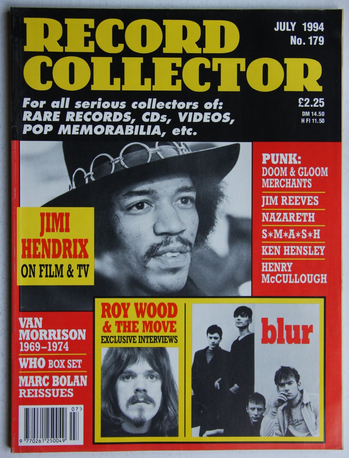 Jimi Hendrix - Uk Record Collector Magazine July 1994