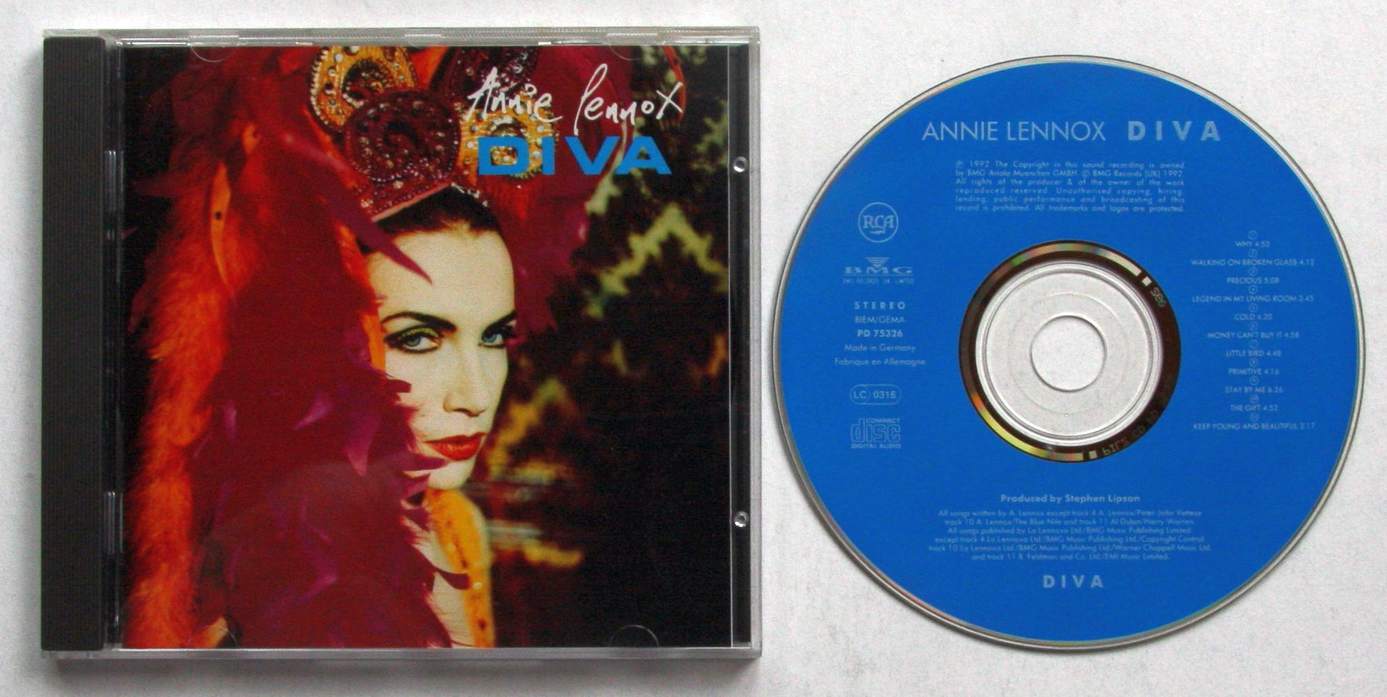 Annie lennox diva 1992 cd eurythmics ebay - Annie lennox diva album cover ...